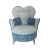 Heart-Shaped Miniature Couch w/ Rhinestones Jewelry Box