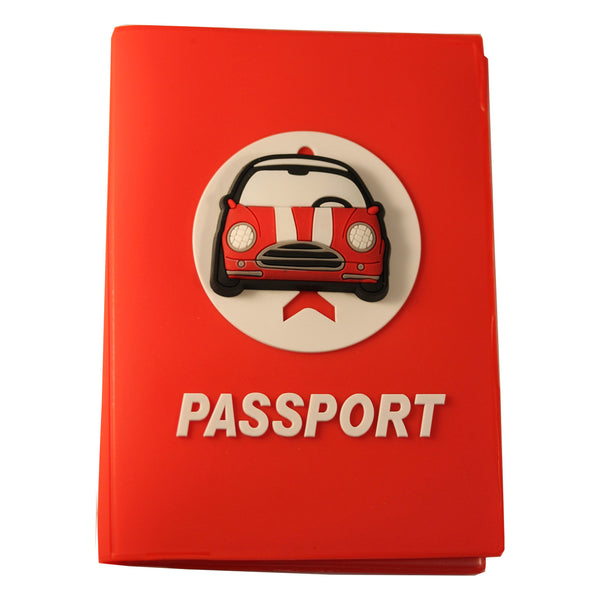 Red Cooper Car PVC Thick Passport Cover/ Holder