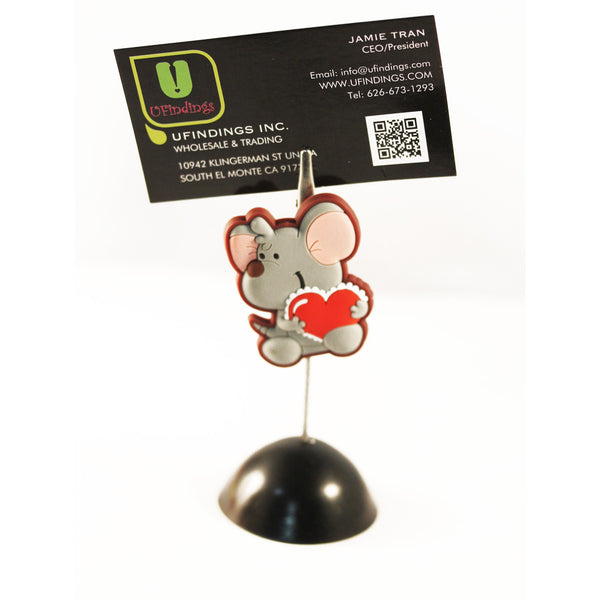 Similing Lovely Mouse Photo / Memo / Name Card / Business Card Clip Hanger
