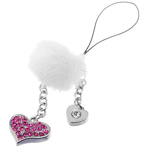 DIY Pink Heart with White Fur Pendant