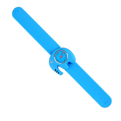Silicone Blue Elephant Design Slap Watch with Removable Watch Case ($2.50 ea.)
