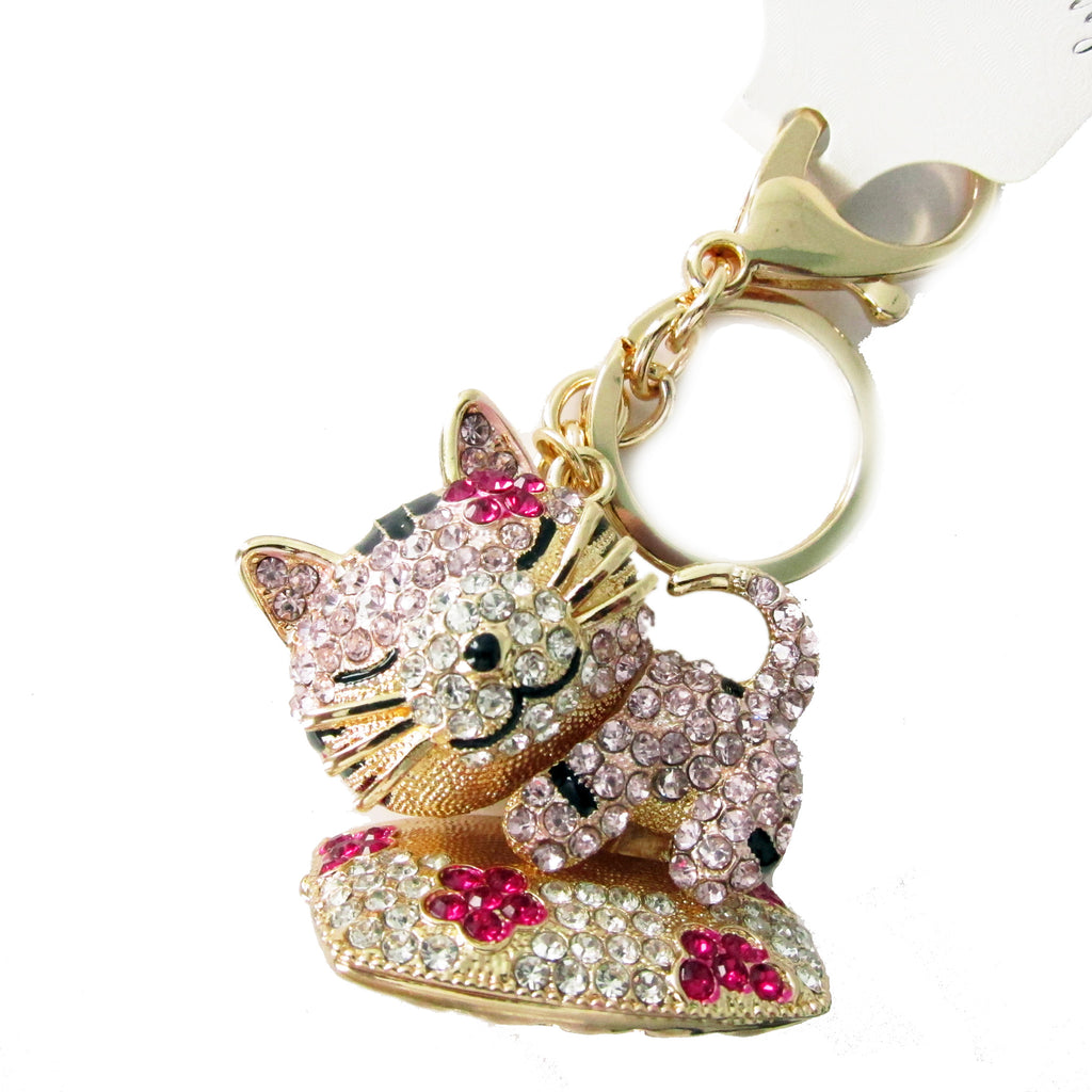 DIY Sleepy Cat Design Rhinestone Keychain ($2.50 each)