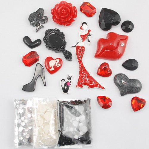 DIY Lady Theme Design Red Deco Kit ($9.99 each)