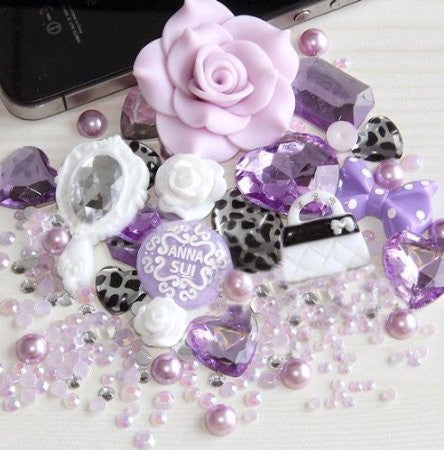 DIY Flower Mirror Theme Design Light Purple Deco Kit ($9.99 each)