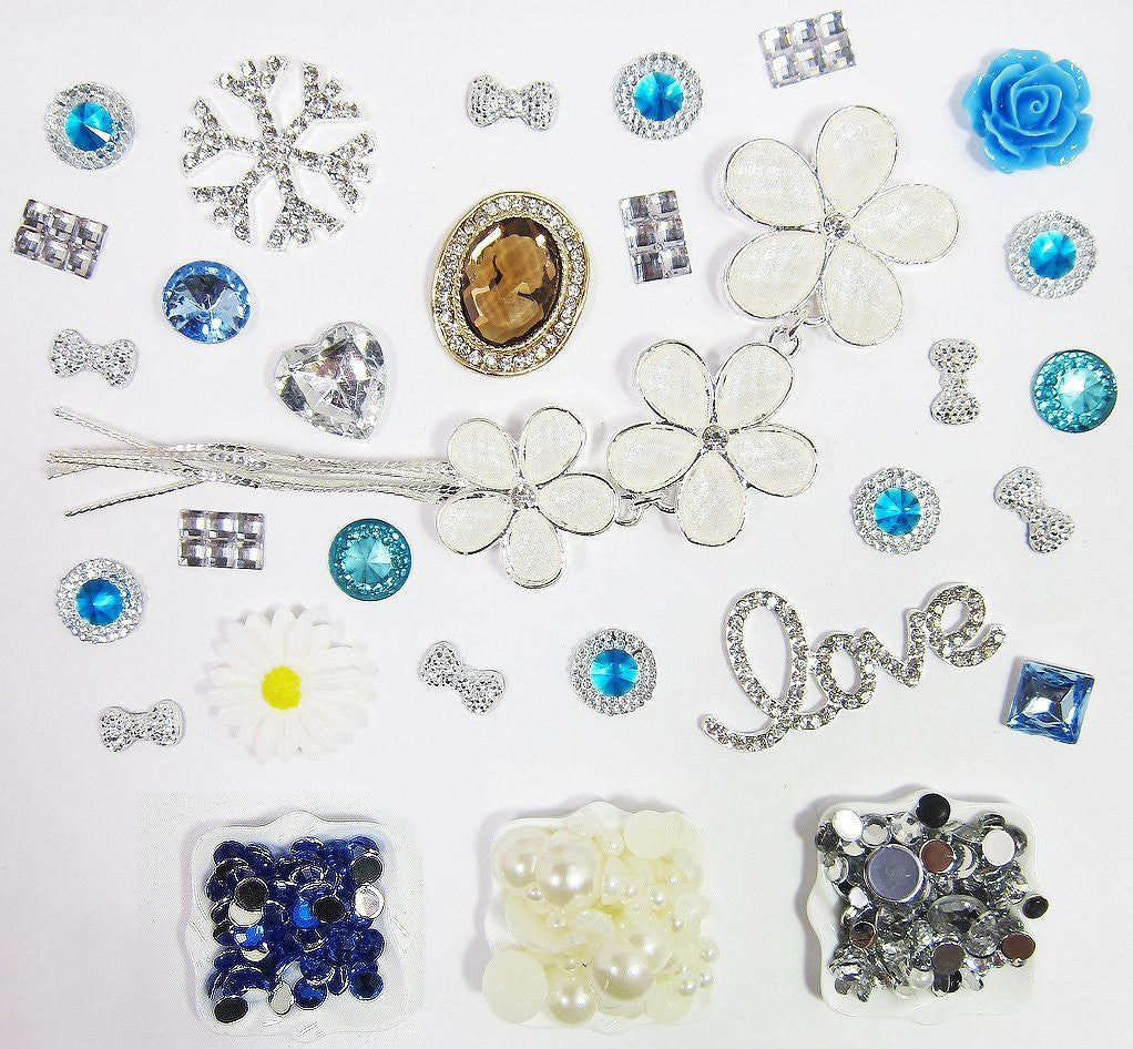 DIY Flower Love Theme Design Blue Deco Kit ($9.99 each)