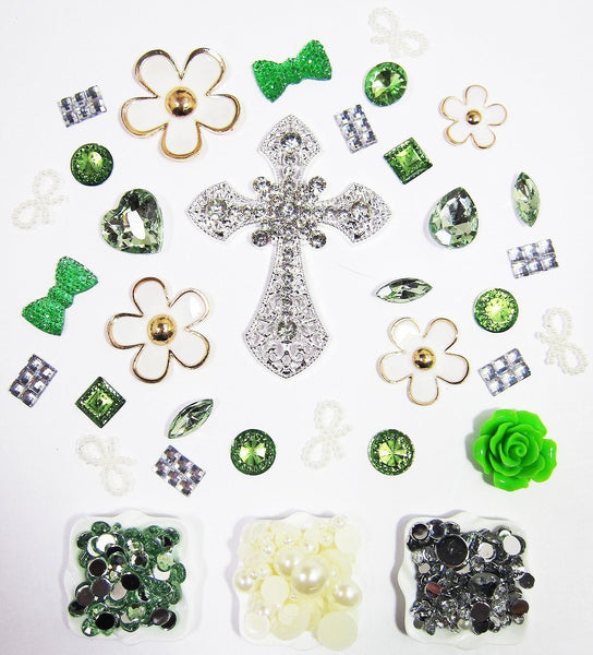 DIY Cross Flower Theme Design Green Deco Kit ($9.99 each)