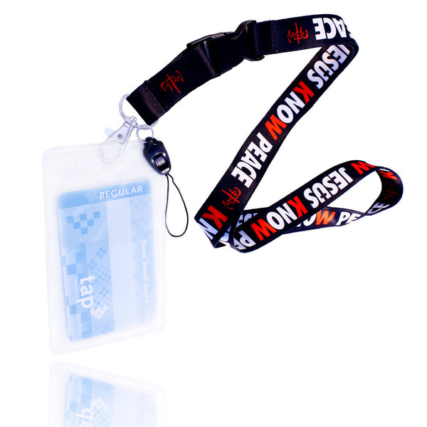 Know Jesus Know Peace Black Lanyard With Card Holder