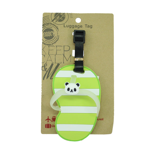 Green Panda Sandal Luggage Tag (Comes in packs of 12 - $2.50 each)