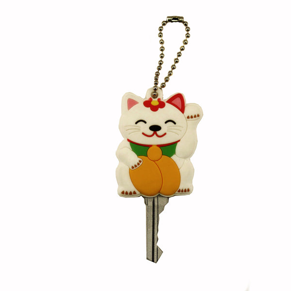 PVC Happy Lucky Cat Key Cover