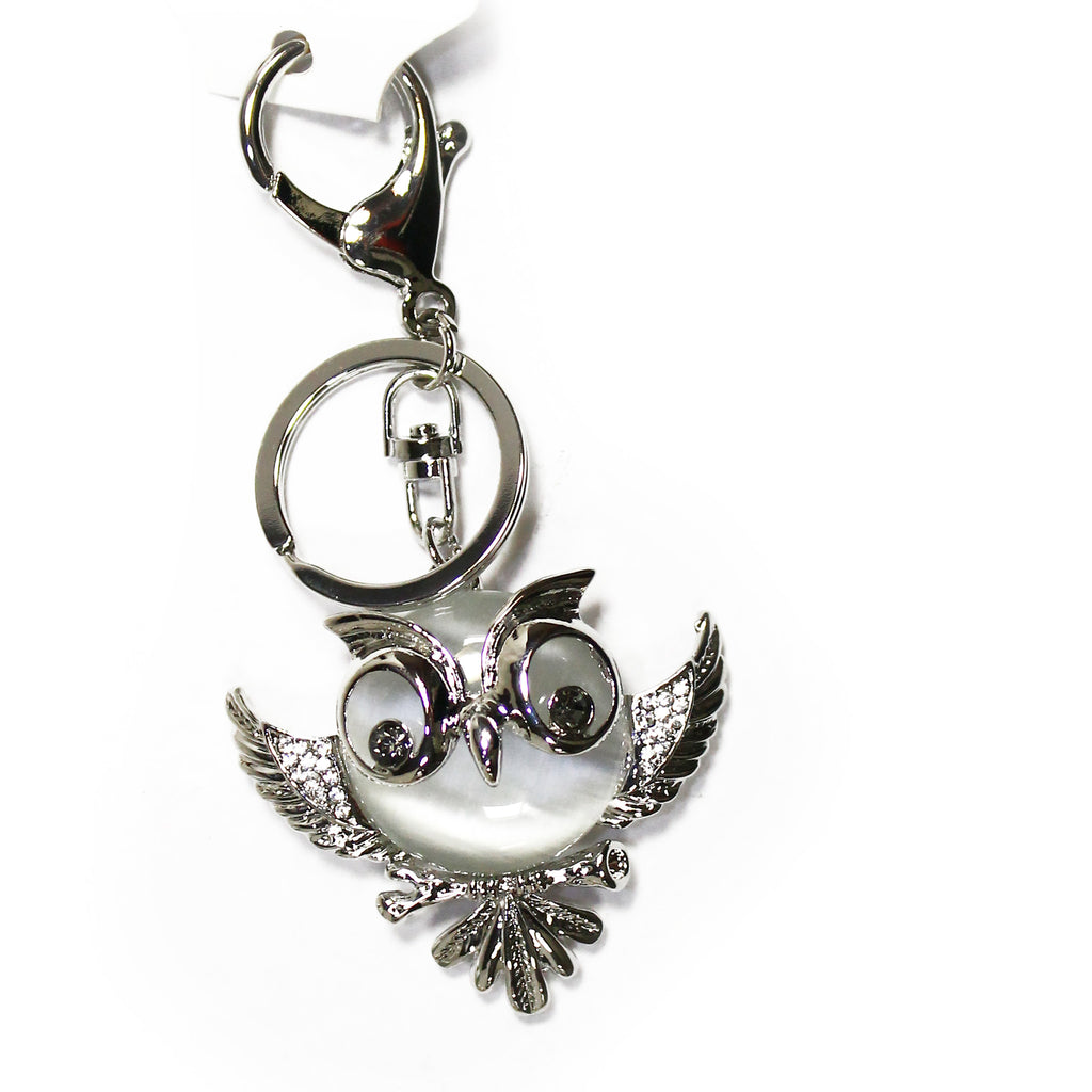 Owl Flying Rhinestone Key Chain