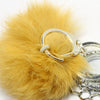 Yellow Fur Ball Key Chain