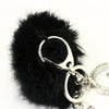 Black Fur Ball Key Chain