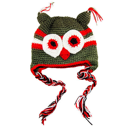 Owl Red Green Beanie ($0.00)