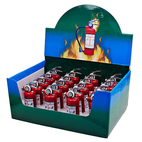 Refillable Fire Extinguisher Lighters w/Light (Starting $3.00 ea)