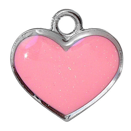 DIY Solid Pink Heart Pendant