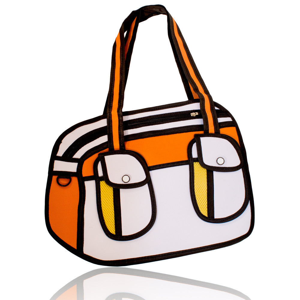 DIY Dual Pack Design Orange 3D Handbag  ($9.75 each)