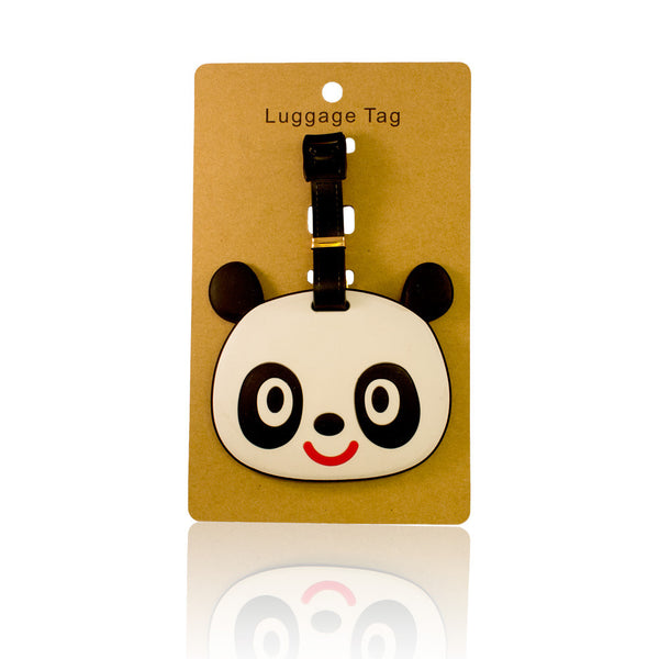 Panda Head Design White Luggage Tag (Comes in packs of 12 - $2.50 each)