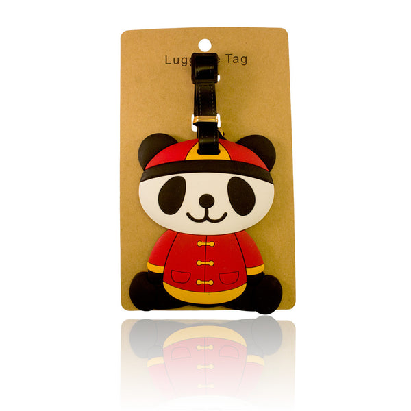 Chinese Panda Design Red Luggage Tag (Comes in packs of 12 - $2.50 each)