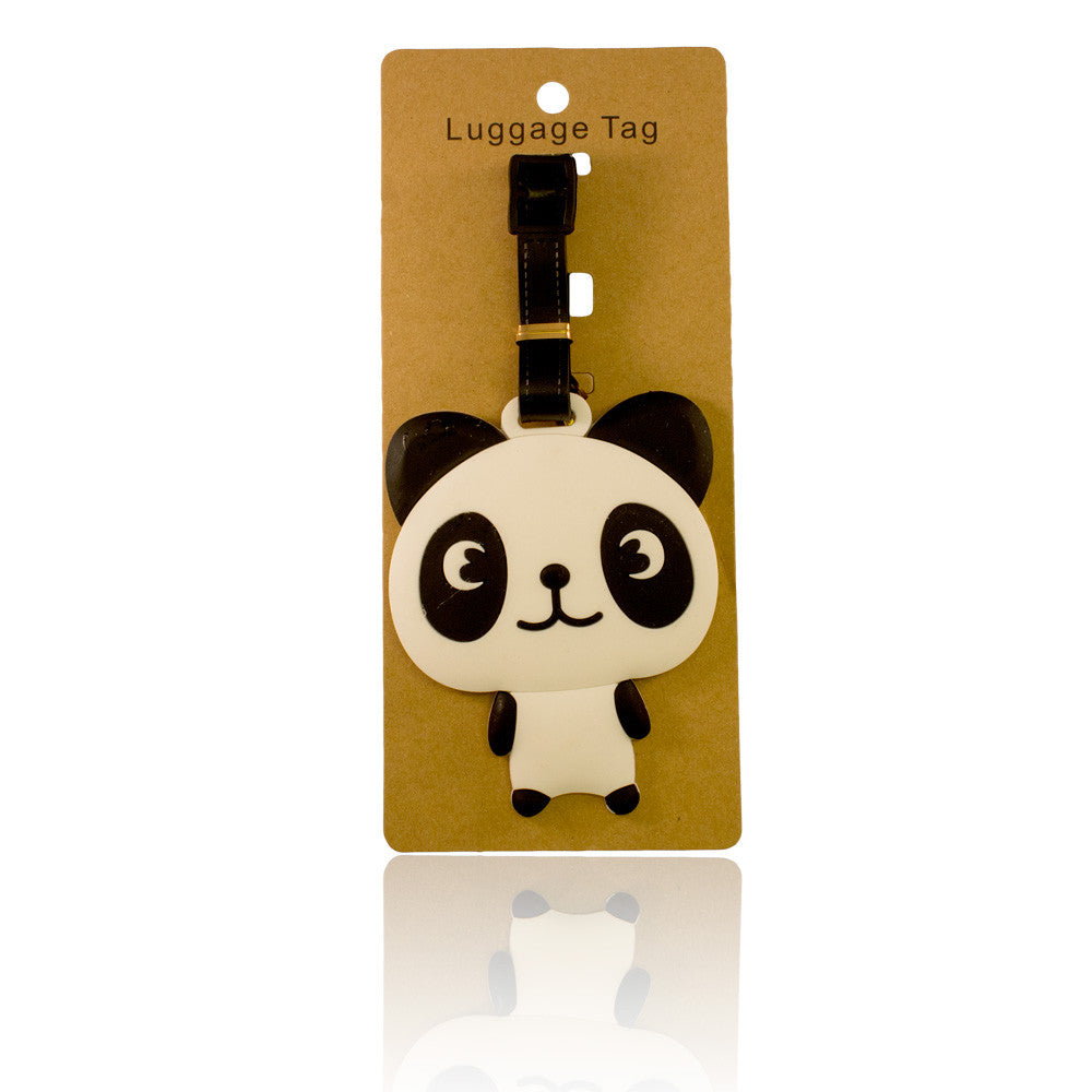 Panda Design White Luggage Tag (Comes in packs of 12 - $2.50 each)