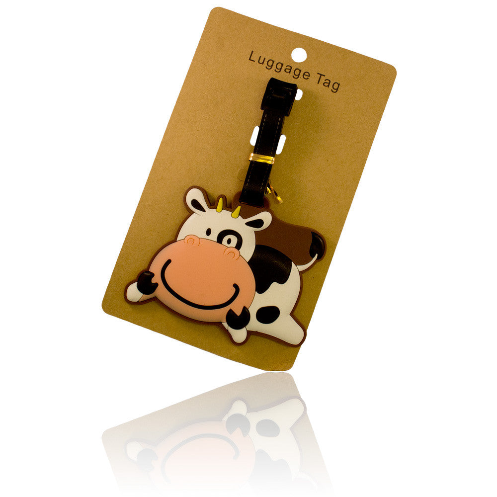 DIY Smile Cow Design White Luggage Tag (Comes in packs of 12 - $2.50 each)