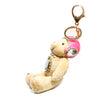 Plush Bear w/ Pink Helmet Key Chain