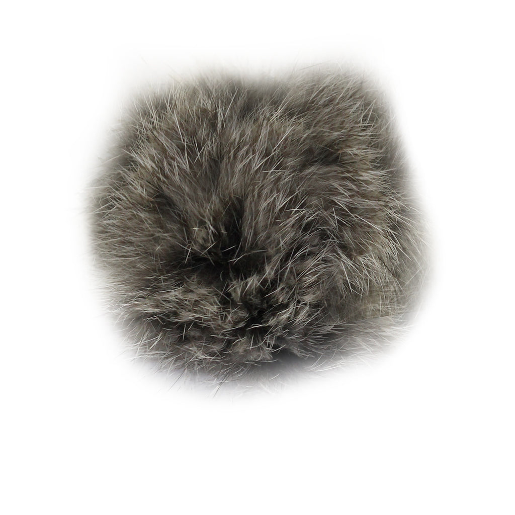 Grey Fur Ball Key Chain