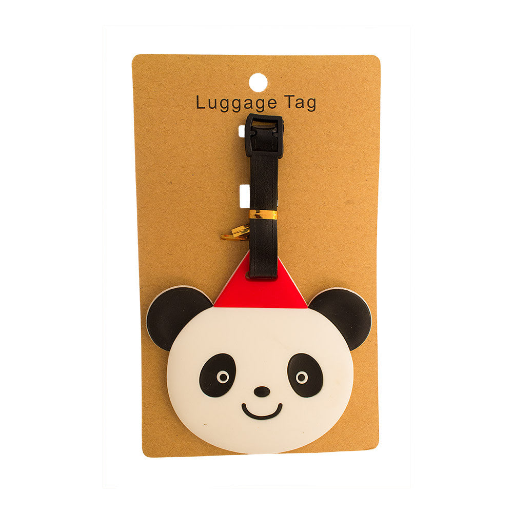 Panda With Red Triangle Luggage Tag (Comes in packs of 12 - $2.50 each)