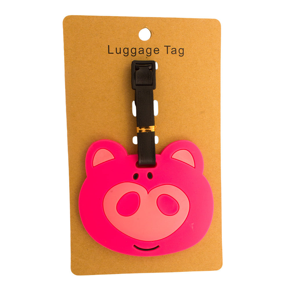 Pig Head Luggage Tag (Comes in packs of 12 - $2.50 each)