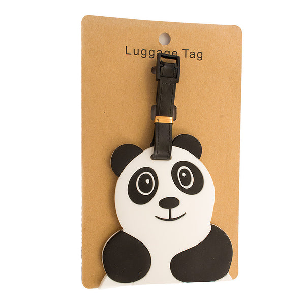 Panda Chubby White Luggage Tag (Comes in packs of 12 - $2.50 each)