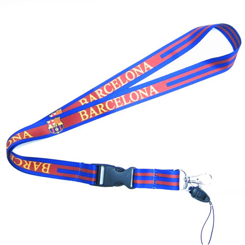 High Quality Blue Barcelona Lanyard