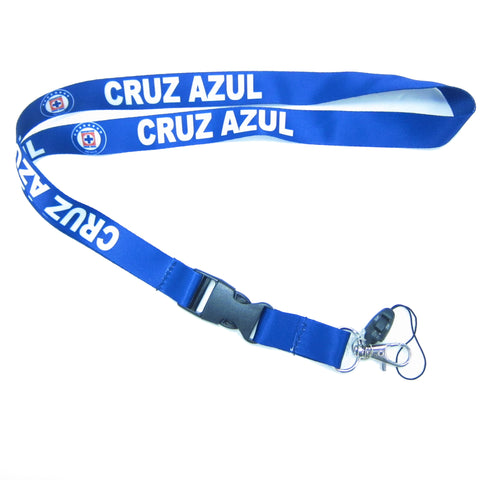 High Quality Blue Cruz Azul Lanyard