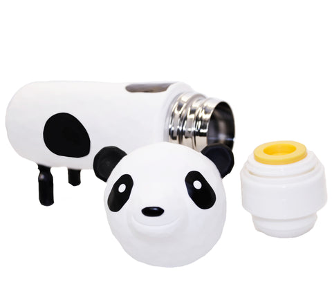 3D Panda Tumbler Thermos White Water Bottle