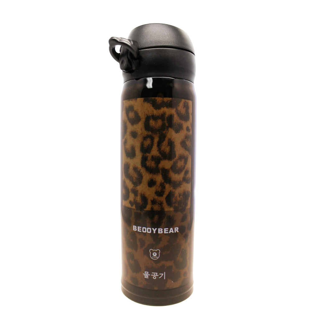 BEDDYBEAR Leopard Print Thermos Tumbler Water Bottle