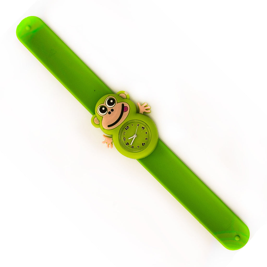 Silicone Green Monkey Design Slap Watch with Removable Watch Case ($2.50 ea.)