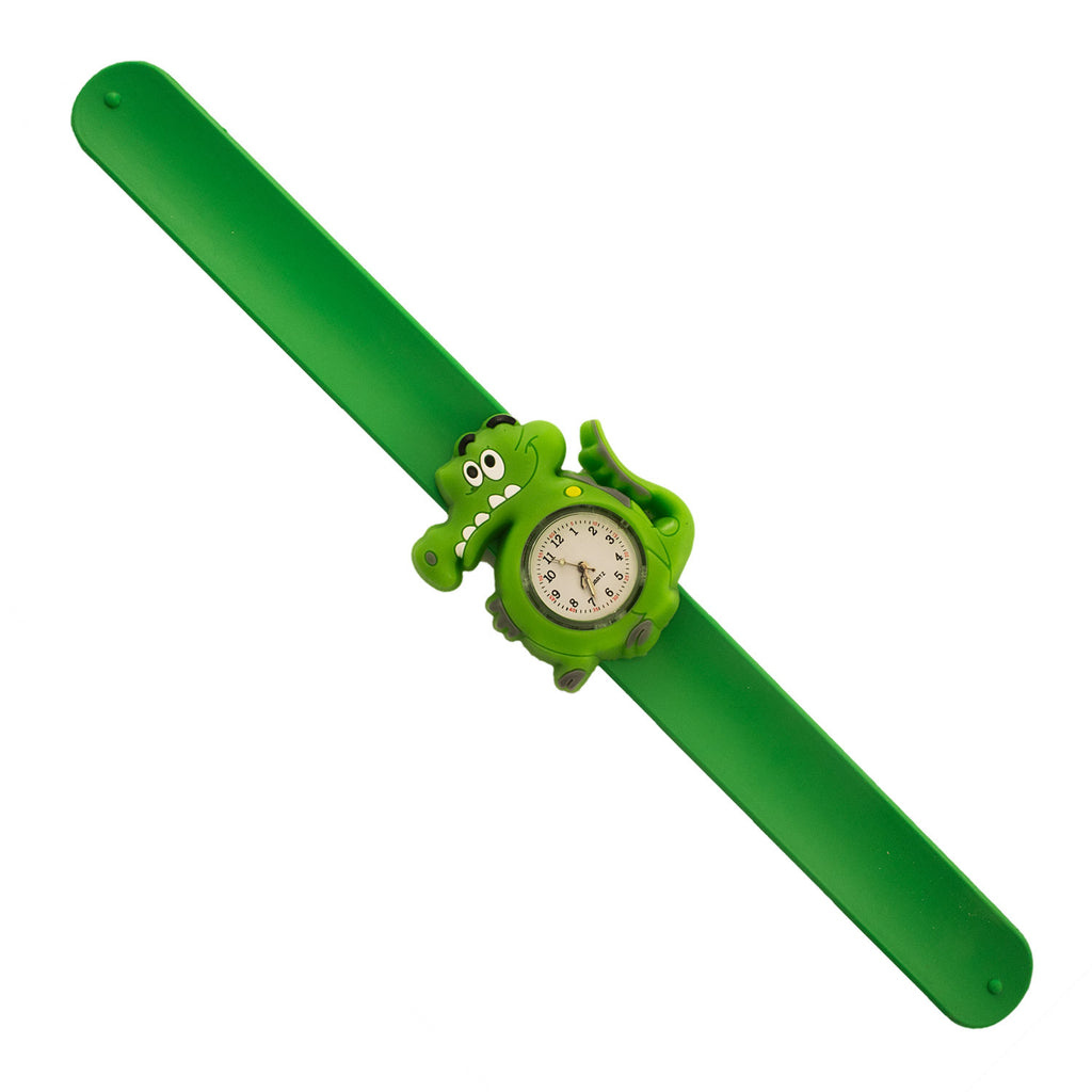 Silicone Green Alligator Design Slap Watch with Removable Watch Case ($2.50 ea.)