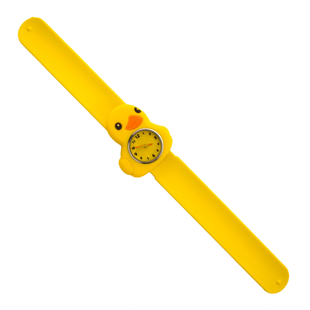 Silicone Yellow Duck Design Slap Watch with Removable Watch Case ($2.50 ea.)