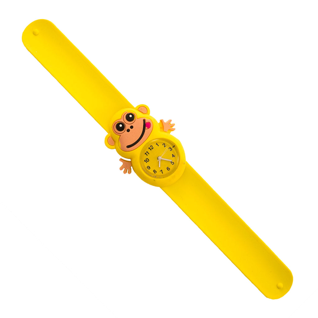 Silicone Yellow Monkey Design Slap Watch with Removable Watch Case ($2.50 ea.)