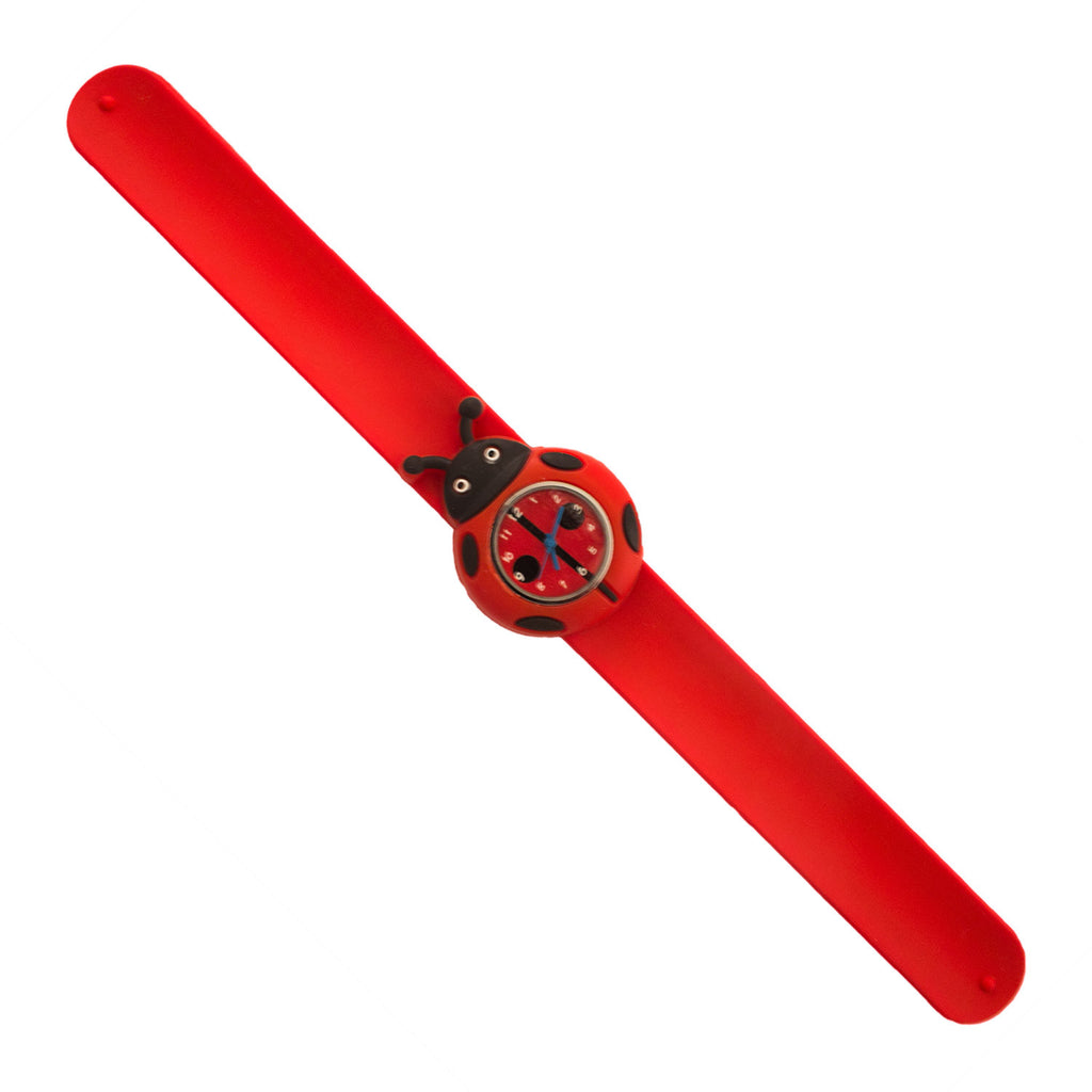 Silicone Lady Bug Design Slap Watch with Removable Watch Case ($2.50 ea.)