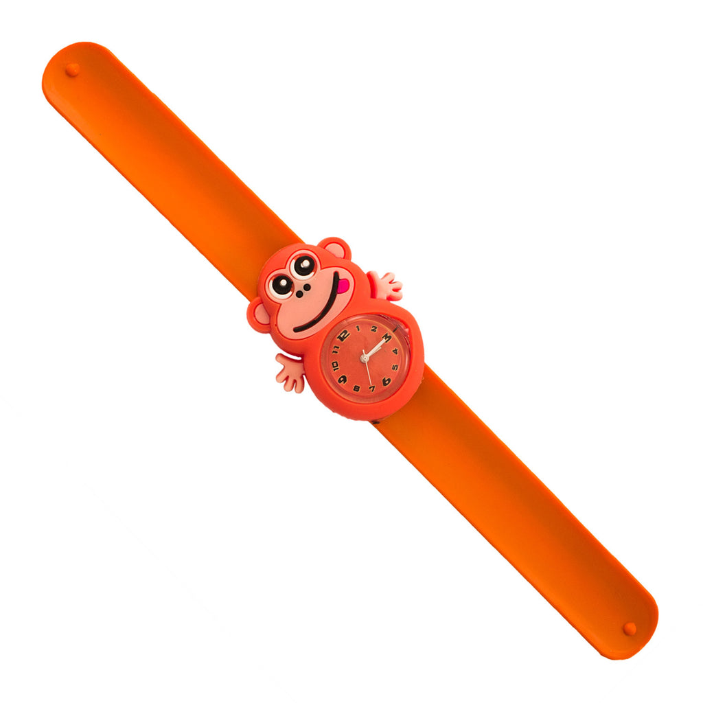 Silicone Orange Monkey Design Slap Watch with Removable Watch Case ($2.50 ea.)