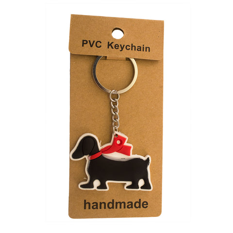 Black Dog PVC Key Chain
