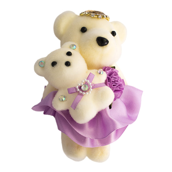 Lavender Mom & Daughter Bears for Bouquets