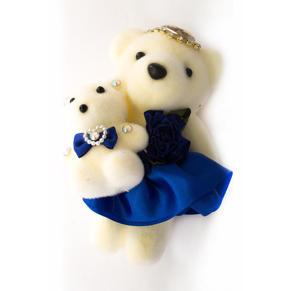 Blue Mom & Daughter Hard Foam Bears for Bouquets (Comes in pack of 10 - $0.75)