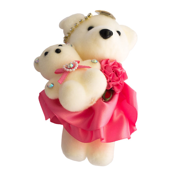 Fuschia Mom & Daughter Hard Foam Bears for Bouquets (Comes in pack of 10 - $0.75)
