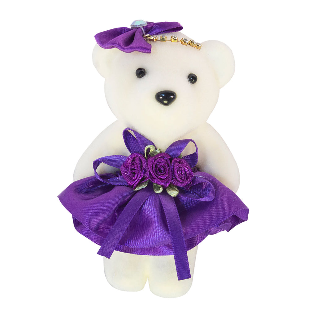 Hard Foam Purple Bears with Bow and Rhinestones (Comes in pack of 10 - $0.75)