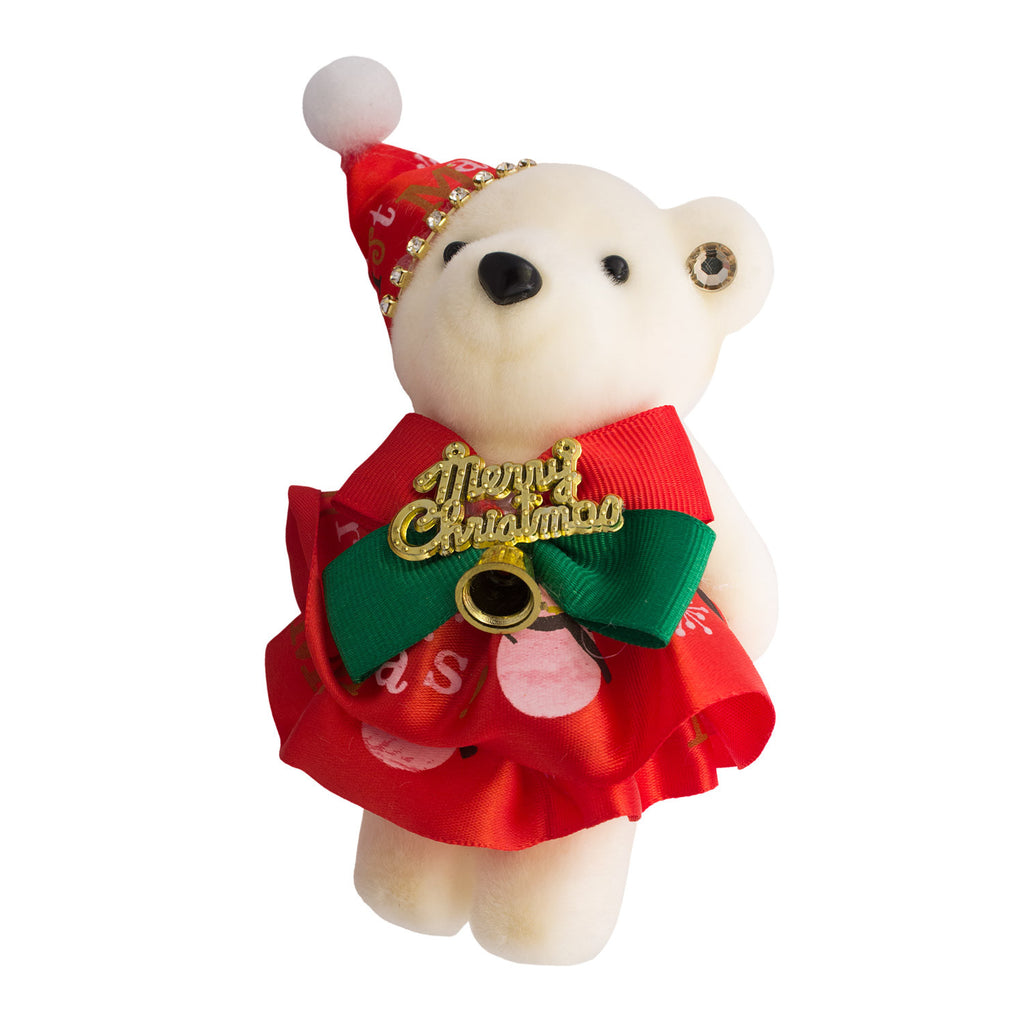 Hard Foam Red Christmas Bears for Bouquets