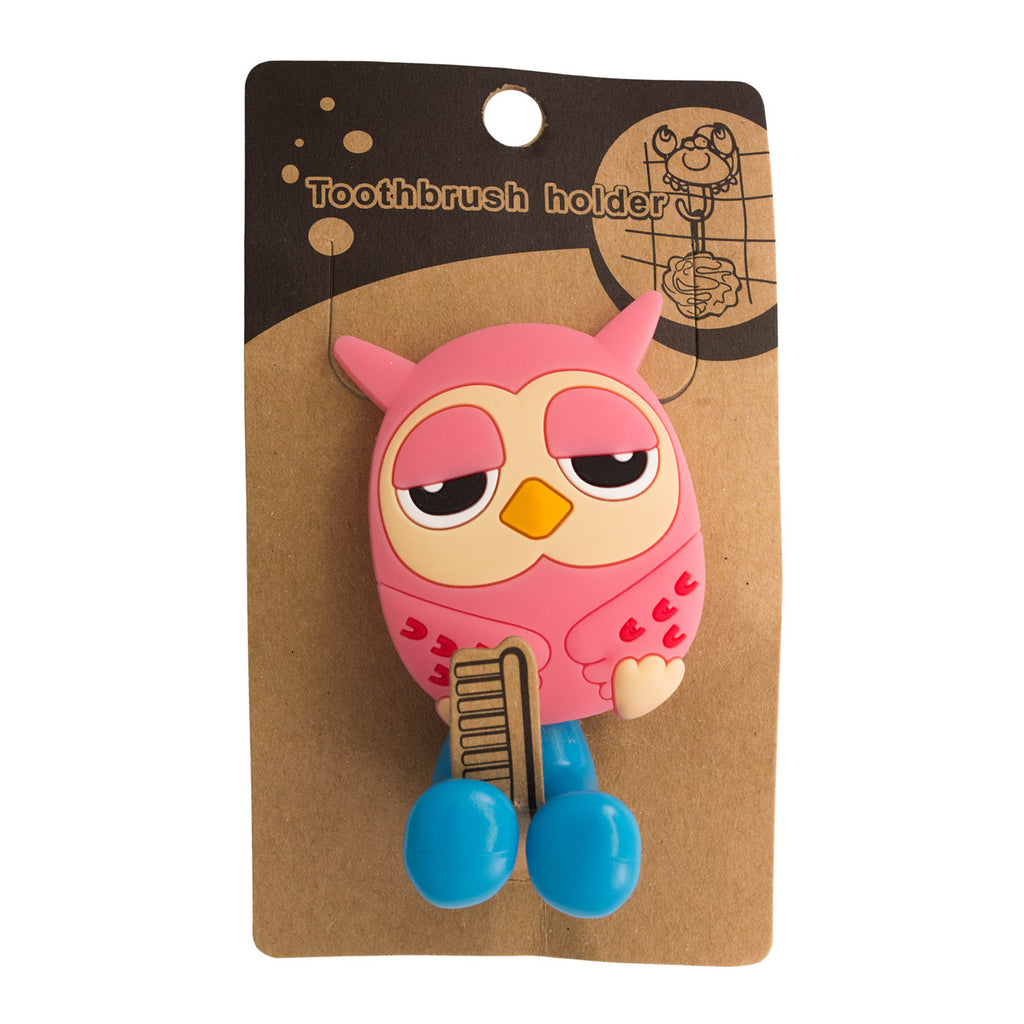 DIY Pink Owl Toothbrush Holder