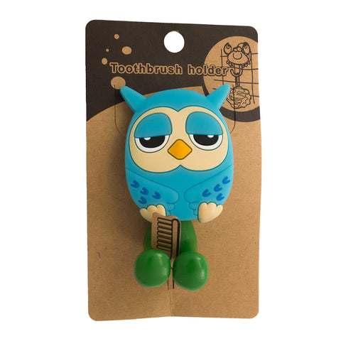 DIY Blue Owl Toothbrush Holder