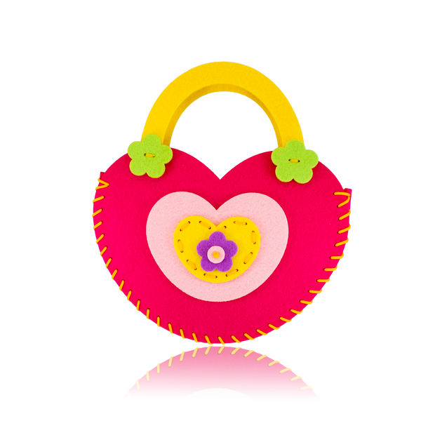 DIY Heart Design Pink Purse