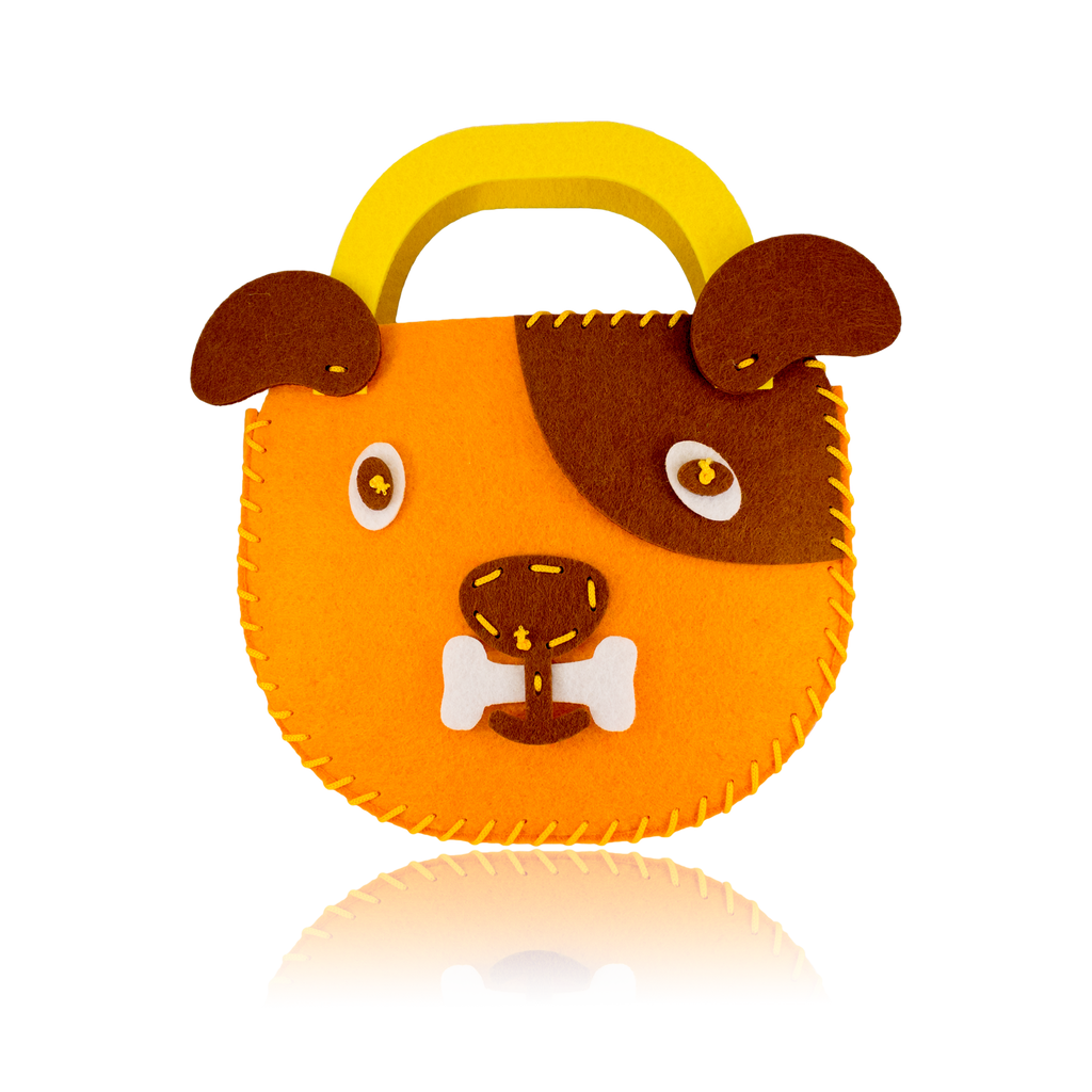 DIY Dog Design Orange Purse