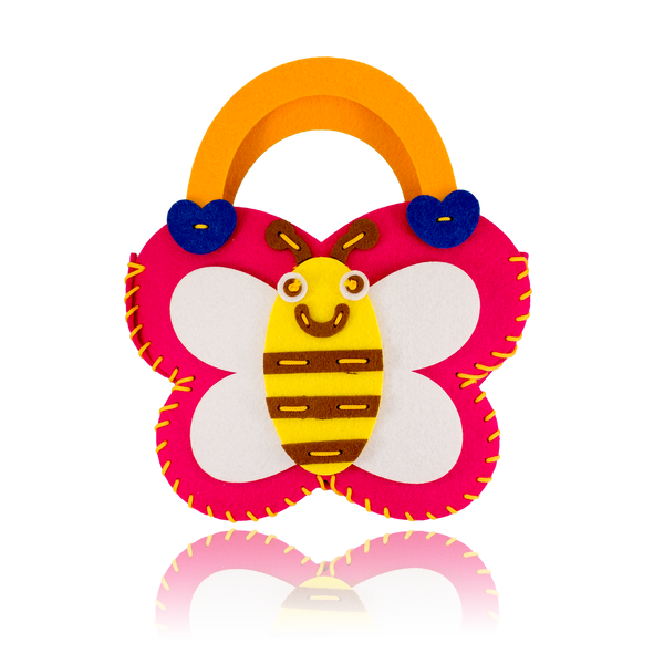 DIY Bee Design Pink Purse